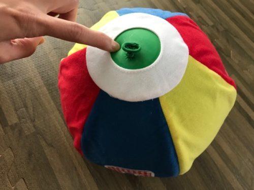 プレイアロングのボールを風船で代用してみた