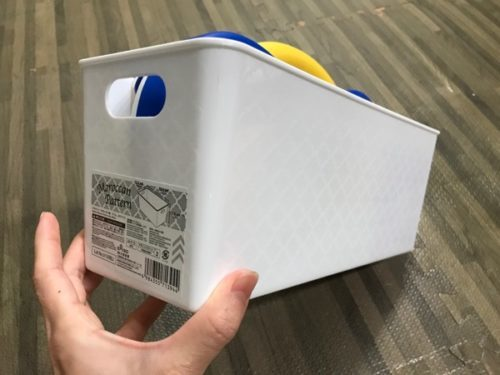 DWEのTAC収納に購入したダイソーのBOX
