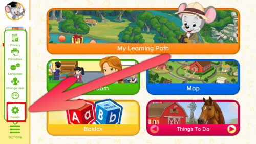 楽天ABCマウスの設定方法